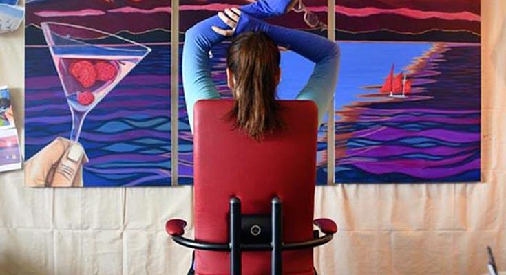 Сидячая работа какие упражнения делать